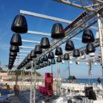 Pixel Sound. Sistema audio per locali e strutture, dotato di contenimento sonoro.